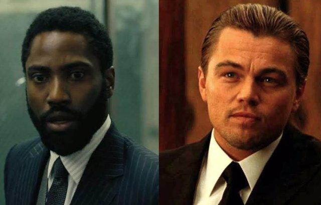 John David Washington en 'Tenet' y Leonardo DiCaprio en 'Origen'