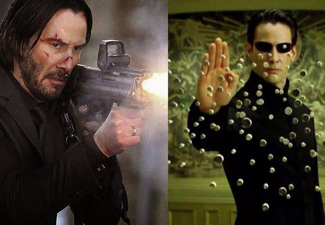 Keanu Reeves es John Wick y Neo en Matrix