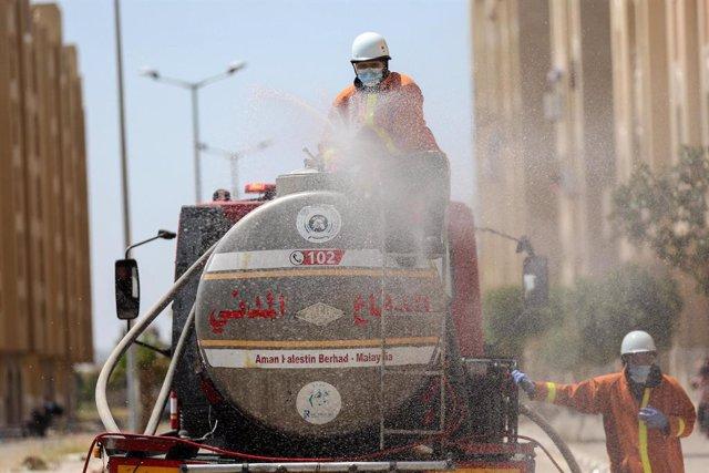 Coronavirus.- Las autoridades de la Franja de Gaza alertan del débil sistema san
