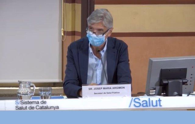 El secretari de Salut Pública Josep Maria Argimon