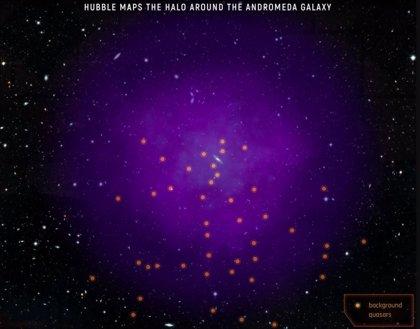 El halo de la Vía Láctea ya está chocando con el de Andrómeda