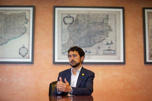 El conseller de Territorio y Sostenibilidad de la Generalitat, Damià Calvet, durante una entrevista para Europa Press, en Barcelona, Catalunya (España), a 29 de julio de 2020.