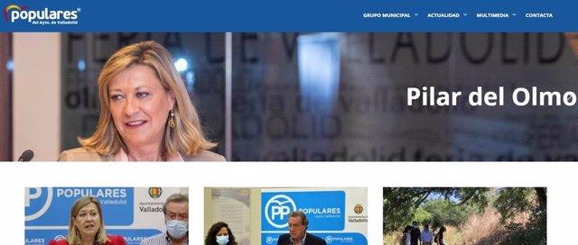 Imagen de la página web del Grupo Popular del Ayuntamiento de Valladolid.