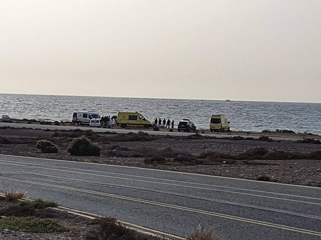 Patera llegada a El Berriel (Gran Canaria)