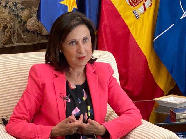 La ministra de Defensa, Margarita Robles, en entrevista con Europa Press
