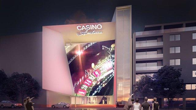 Render de la façana del casino que Jocs SA construirà al centre d'Andorra la Vella (Arxiu)