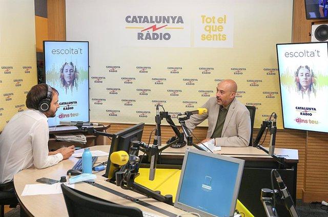 El director de Catalunya Ràdio Saül Gordillo, en la presentació de la nova temporada en antena