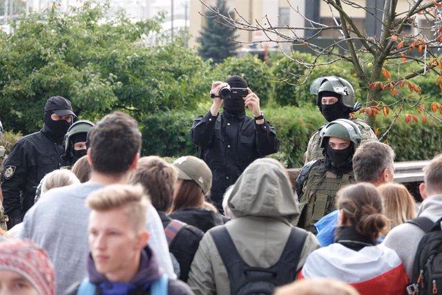 Bielorrusia.- Una ONG bielorrusa informa de más de 260 detenidos en las protesta