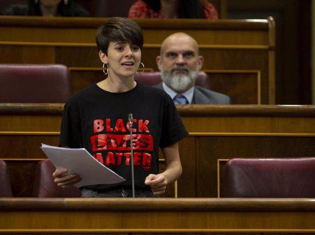 La diputada de ERC, Marta Rosique, en el Congreso durante el Pleno en que se ha discutido sobre la nueva Ley de Educación y los nuevos plazos de la Ley de Enjuiciamiento, en Madrid (España), a 17 de junio de 2020.
