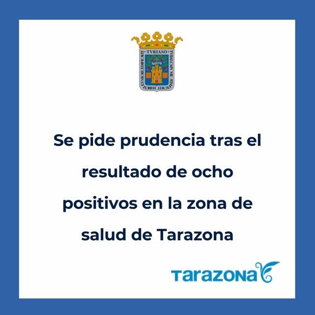 El Ayuntamiento de Tarazona pide prudencia tras 8 casos positivos de coronavirus