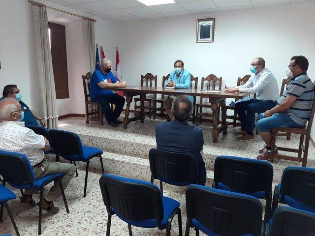 Reunión del Delegado Territorial de la Junta con alcaldes de la zona básica de salud de Esguevillas de Esgueva.