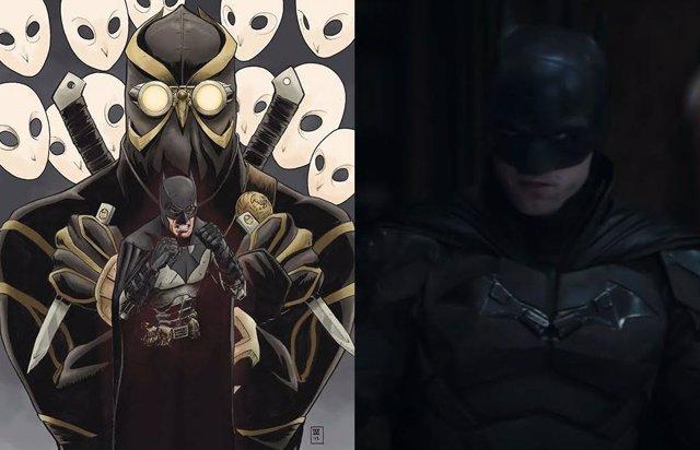 Foto del rodaje de The Batman junto a los Búhos de DC Comics
