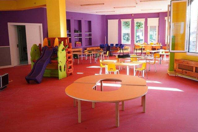 Interior de una de las escuelas infantiles municipales.