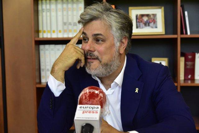 El president de JxCat al Parlament de Catalunya, Albert Batet