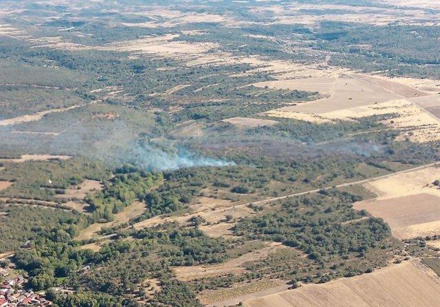 Incendio forestal en Bercianos de Aliste (Zamora)
