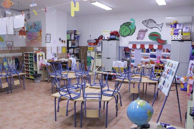 Monitorización continua de la calidad del aire en aulas de educación infantil.