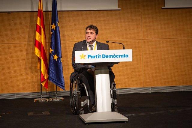 El president del PDeCAT, David Bonvehí, en un Consell Nacional del PDeCAT