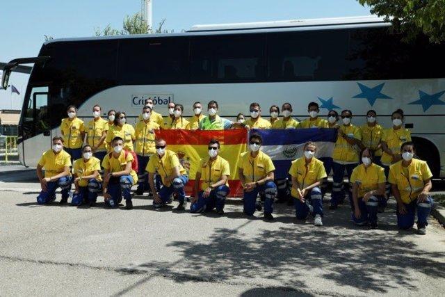 Cvirus.- Regresan a Sevilla los 28 profesionales del SAMU en misión de cooperaci