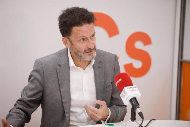 El portavoz de Ciudadanos en el Congreso, Edmundo Bal, en una entrevista con Europa Press
