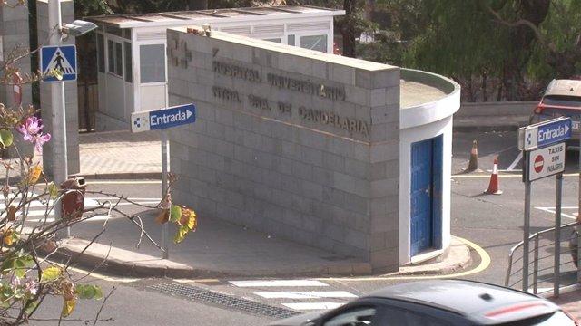 Hospital de La Candelaria donde se encuentra ingresado el turista italiano con positivo por coronavirus