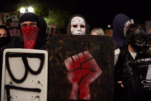 Manifestación en Portland, Estados Unidos. Imagen de arhivo