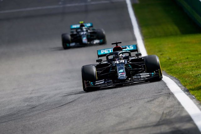 AV.- Fórmula 1/GP Bélgica.- Hamilton lidera el doblete de Mercedes y Sainz ni si