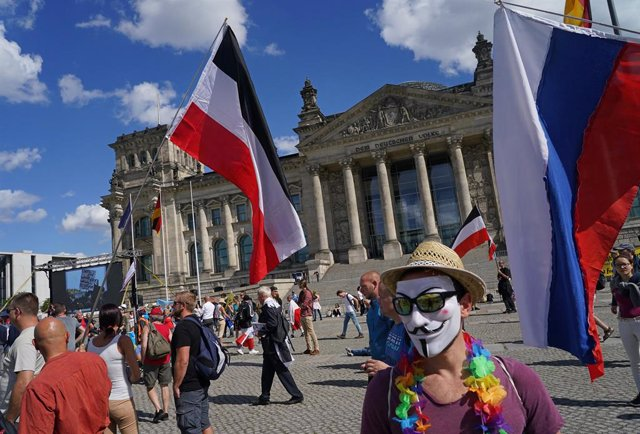 Manifestación negacionista en Berlín