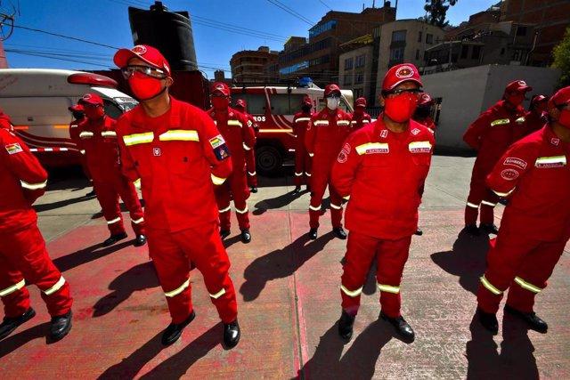 Cuerpo de Bomberos de La Paz, Bolivia.