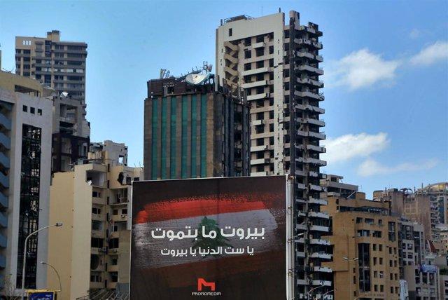 Daños causados por las explosiones en el puerto de Beirut