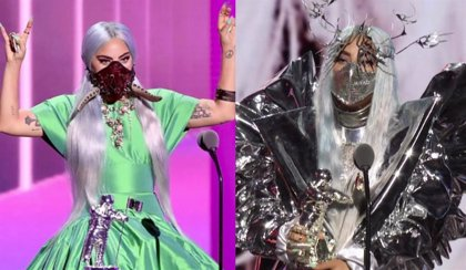 Lady Gaga y sus disparatadas mascarillas arrasan en los MTV VMAs 2020
