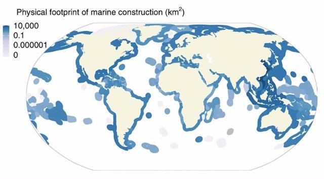 Unos 30.000 kilómetros cuadrados de océano, alterados por el ser humano