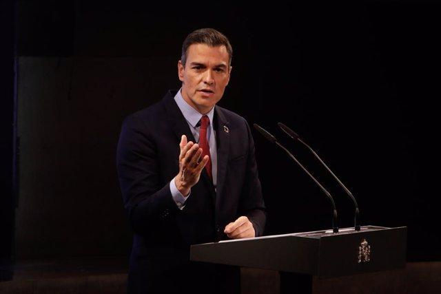 El president del Govern, Pedro Sánchez, ofereix una conferència sota el títol 'Espanya pot. Recuperació, Transformació, Resiliència'.