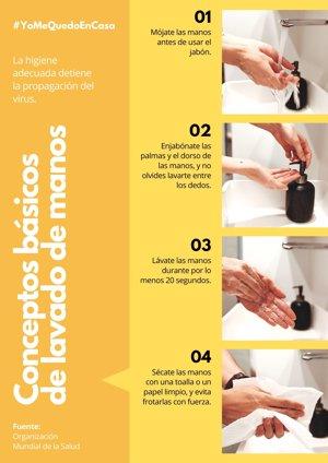 Lavado de manos OMS