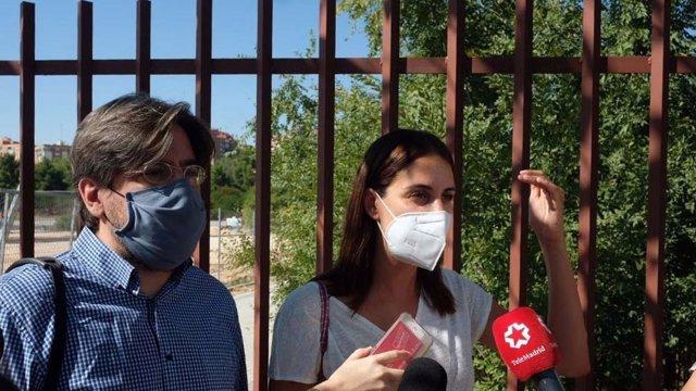 La portavoz de Más Madrid, Rita Maestre y el concejal Miguel Montejo.