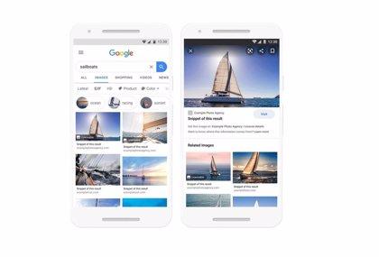 Portaltic.-Google incorpora información sobre la licencia de uso en las miniaturas de los resultados