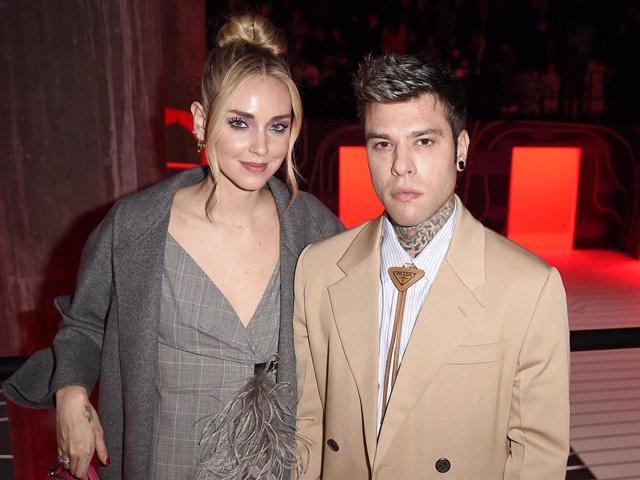Chiara Ferragni And Fedez Attend The Prada Show During Milan Fashion Week