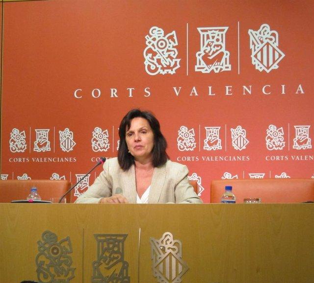 La portavoz socialista de Sanidad en Les Corts Valencianes, Carmen Martínez, en una imagen de archivo.
