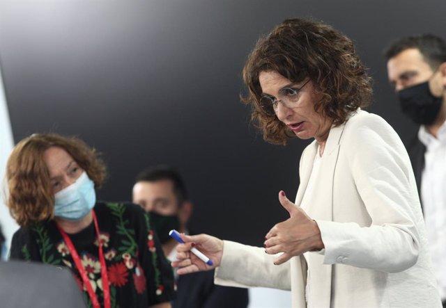 La ministra portaveu i d'Hisenda, María Jesús Montero, a La Moncloa, Madrid (Espanya), 1 de setembre del 2020.