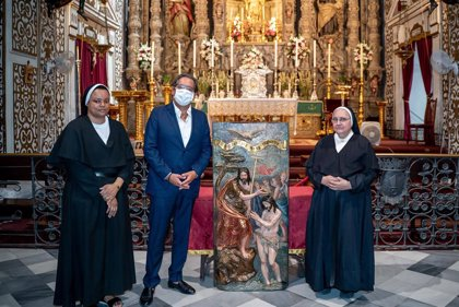 Cajasol.- Fundación Cajasol restaura una tabla del siglo XVI del altar mayor del Convento de San Leandro