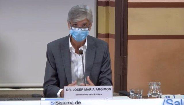 El secretari de Salut Pública Josep Maria Argimon, en roda de premsa