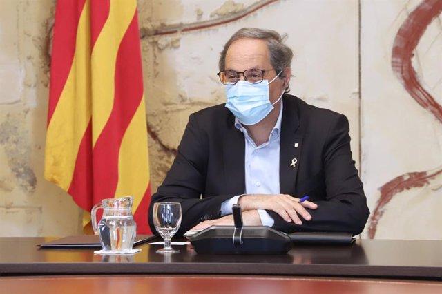 El president de la Generalitat Quim Torra, en el Consell Executiu