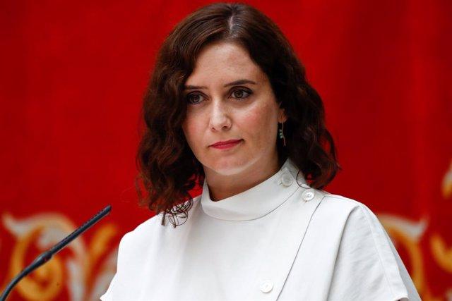 Foto de recurs de la presidenta de la Comunitat de Madrid, Isabel Díaz Ayuso.