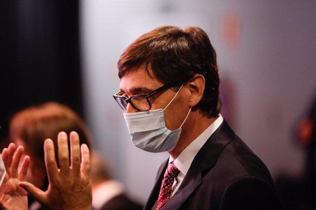 El ministre de Sanitat, Salvador Illa. Madrid (Espanya) 31 d'agost del 2020.