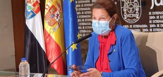 La vicepresidenta primera de la Junta, Pilar Blanco-Morales, en la comparecencia posterior al Consejo de Gobierno.