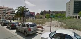 Solar tras la gasolinera de la calle Piqueras, en Logroño