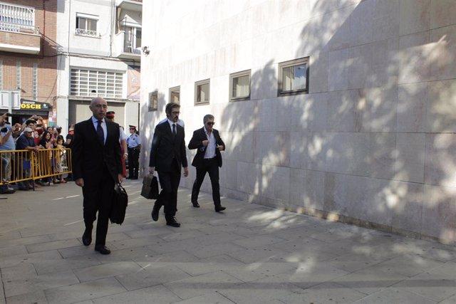 Jorge Messi amb el seu advocat Cristóbal Martell