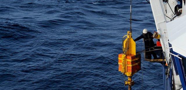 Investigación de liberación de metano desde el fondo marino