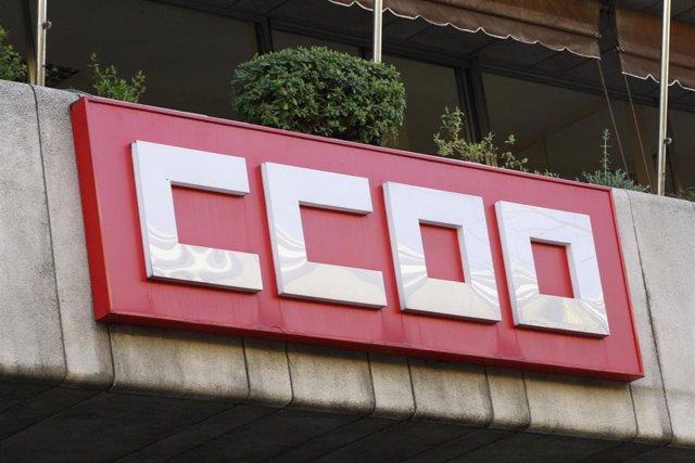 Sede CCOO, logo de Comisiones Obreras, edificio, edificios CCOO, fachada de Comisiones Obreras, cartel CCOO