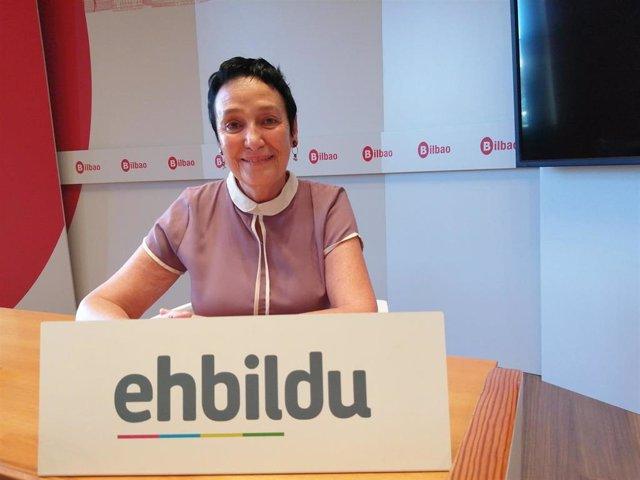 Imagen de la portavoz de EH Bildu Bilbao, Jone Goirizelaia.