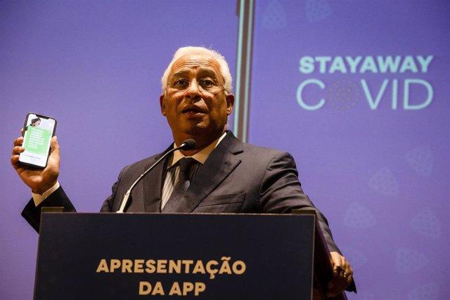 António Costa presenta la apliacación 'Stayaway COVID'